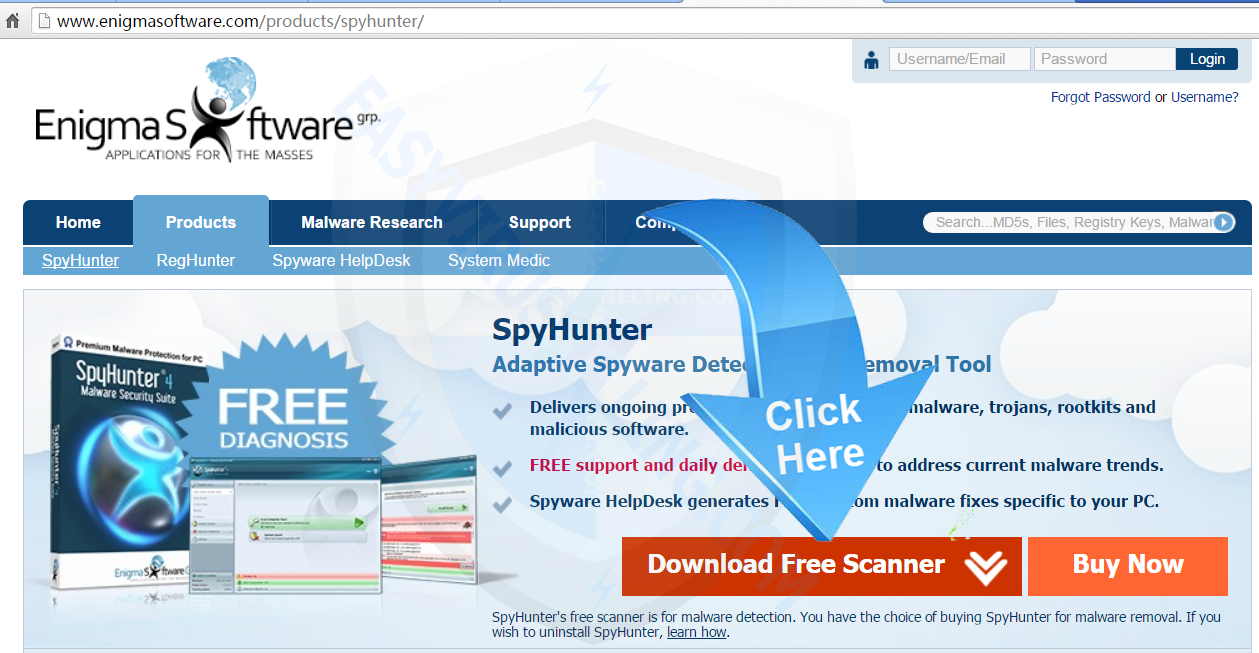 download spyhunter to remove Debug malware error 895-system32.exe failure