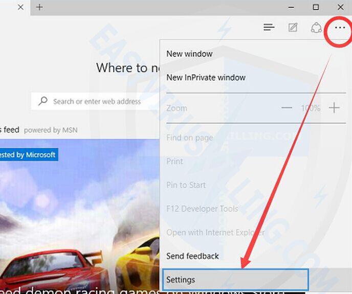 remove popups on Microsoft Edge