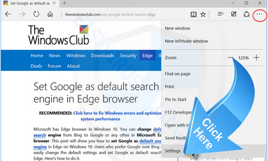 get rid of Csync.php on Microsoft Edge
