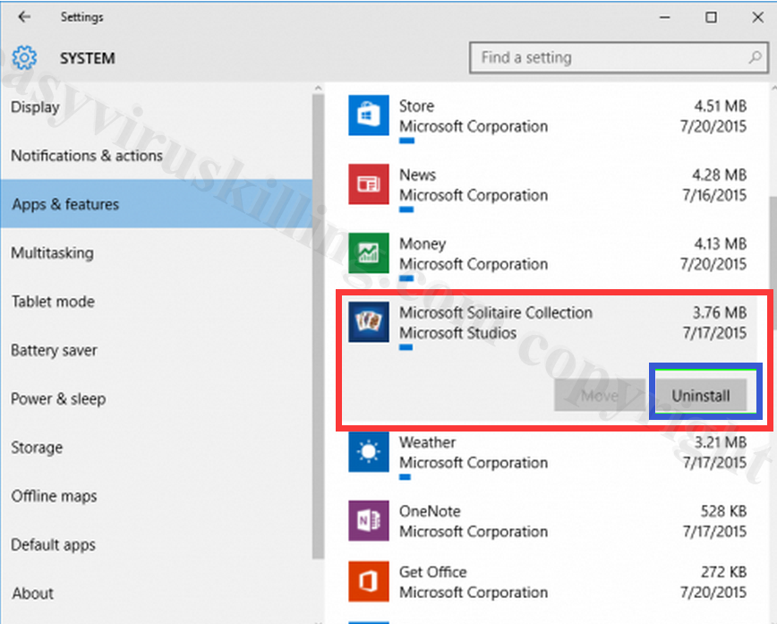 remove INITIALSITE123.COM on windows 10